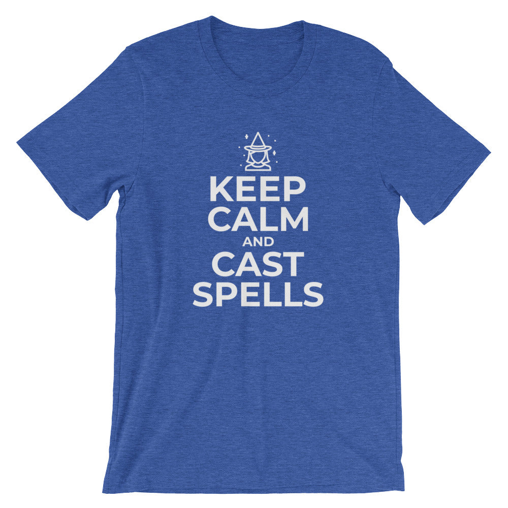 Keep Calm and Cast Spells Funny Witch Halloween Tshirt Wiccan Gift Witches Witch Lovers Wiccans T Shirts Gifts