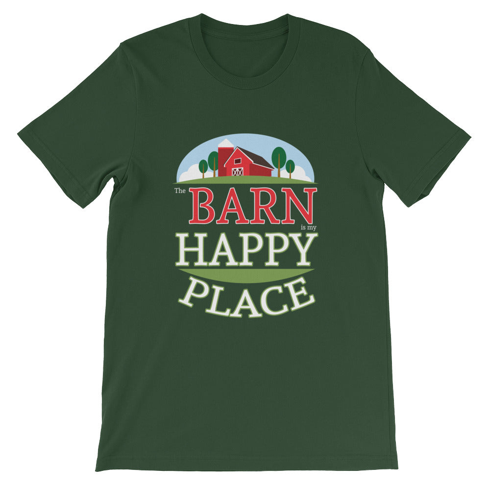The Barn Is My Happy Place Horse T-shirt for Men Women Kids