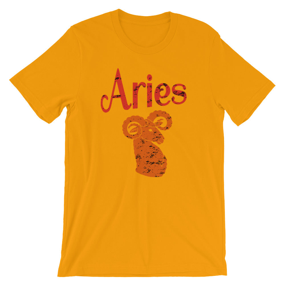 Zodiac Aries Astrology Sign Horoscope T Shirt Aries Zodiac Gifts for March or April Birthday