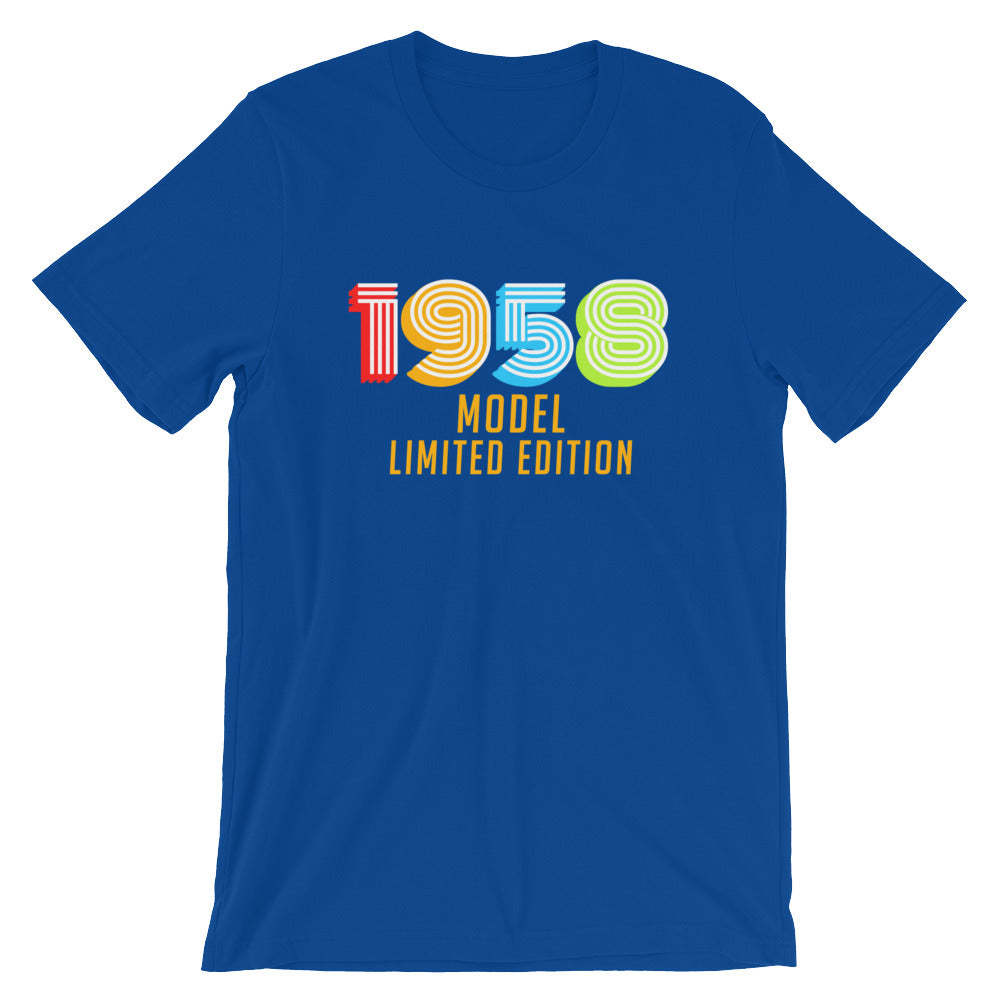 1958 Model Limited Edition Funny 60th Birthday T Shirt Gift Ideas For 60 Year Old