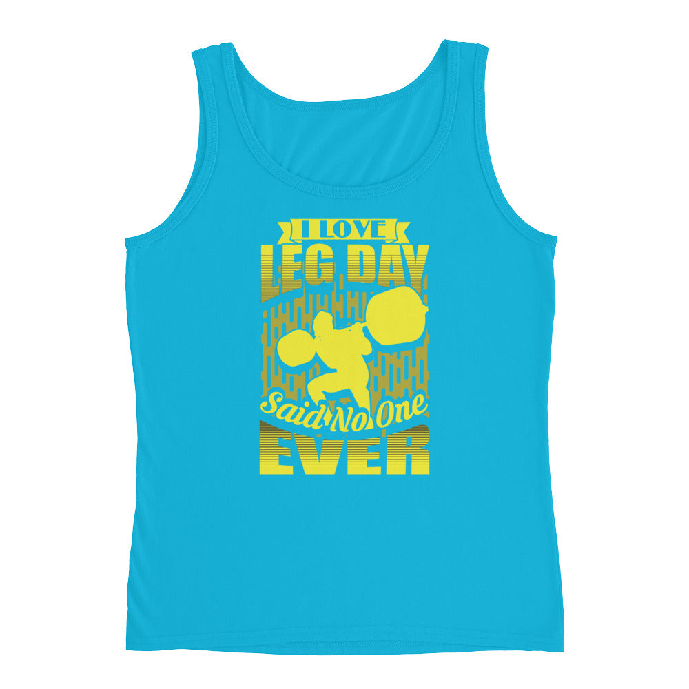 I Love Leg Day Funny Workout Shirt Fitness Tank Top