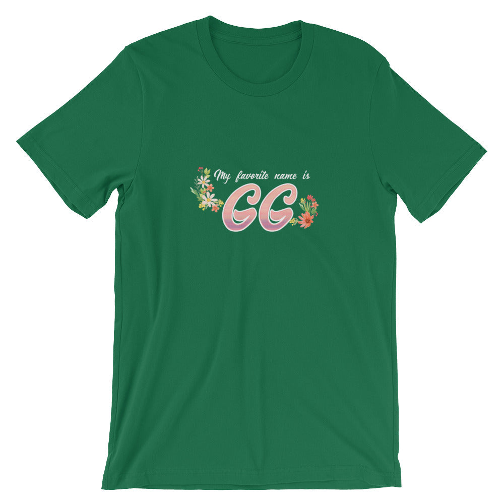 My Favorite Name is GG Shirt Great GG Gifts from Grandkids Granddaughter or Grandson