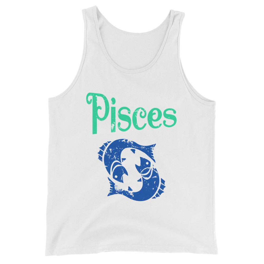 Zodiac Pisces Astrology Sign Horoscope Tank Top Pisces Zodiac Gifts for February or March Birthday
