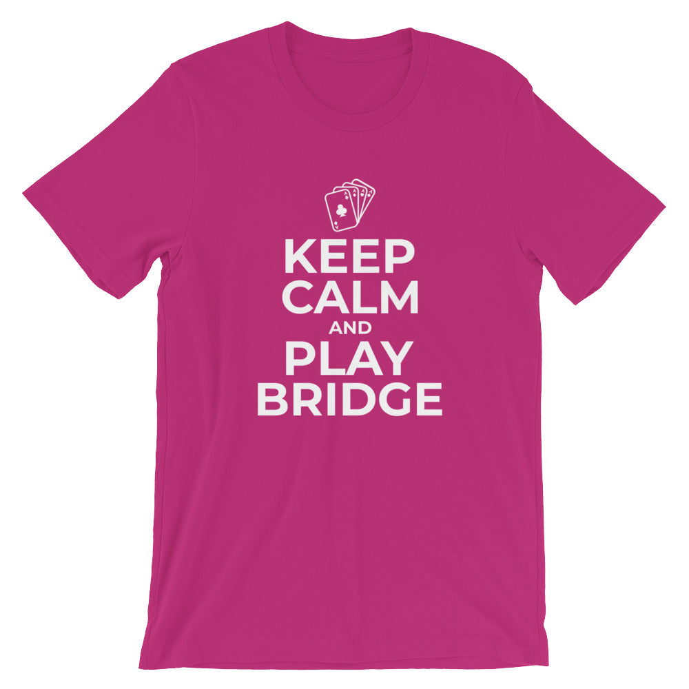 Keep Calm and Play Bridge Player Tshirt Bridge Gifts Funny Bridge Players T Shirts Gifts
