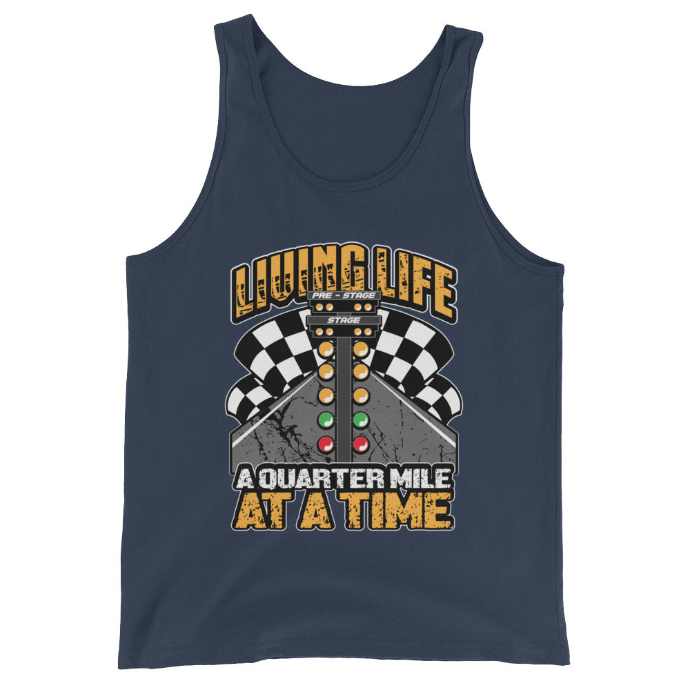 Living Life Funny Tshirt Graphic Tee for Drag Racing Car Racers Street Racing Auto Race