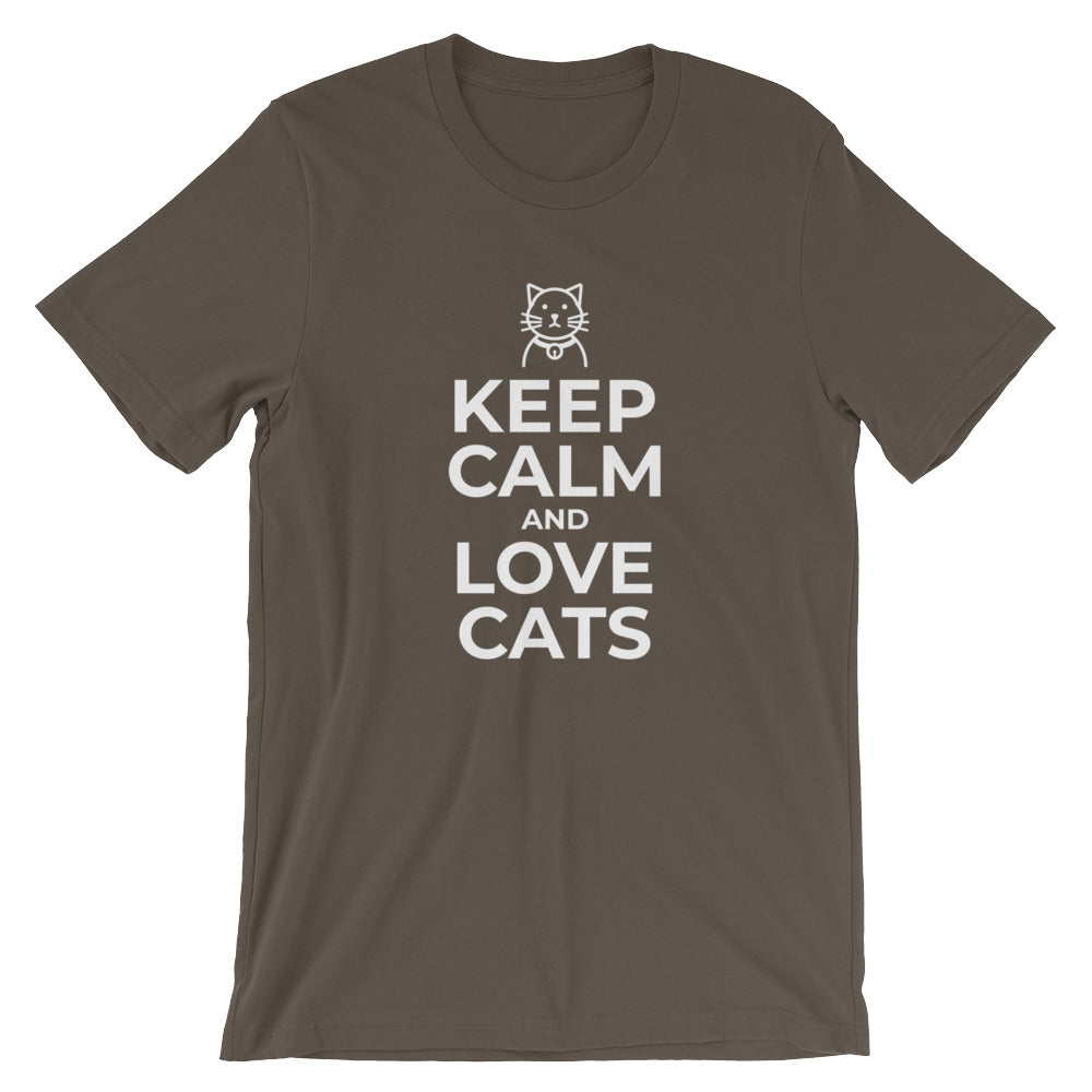 Keep Calm and Love Cats Funny Cat Shirt for Cat Lovers Cat People Cat Gifts