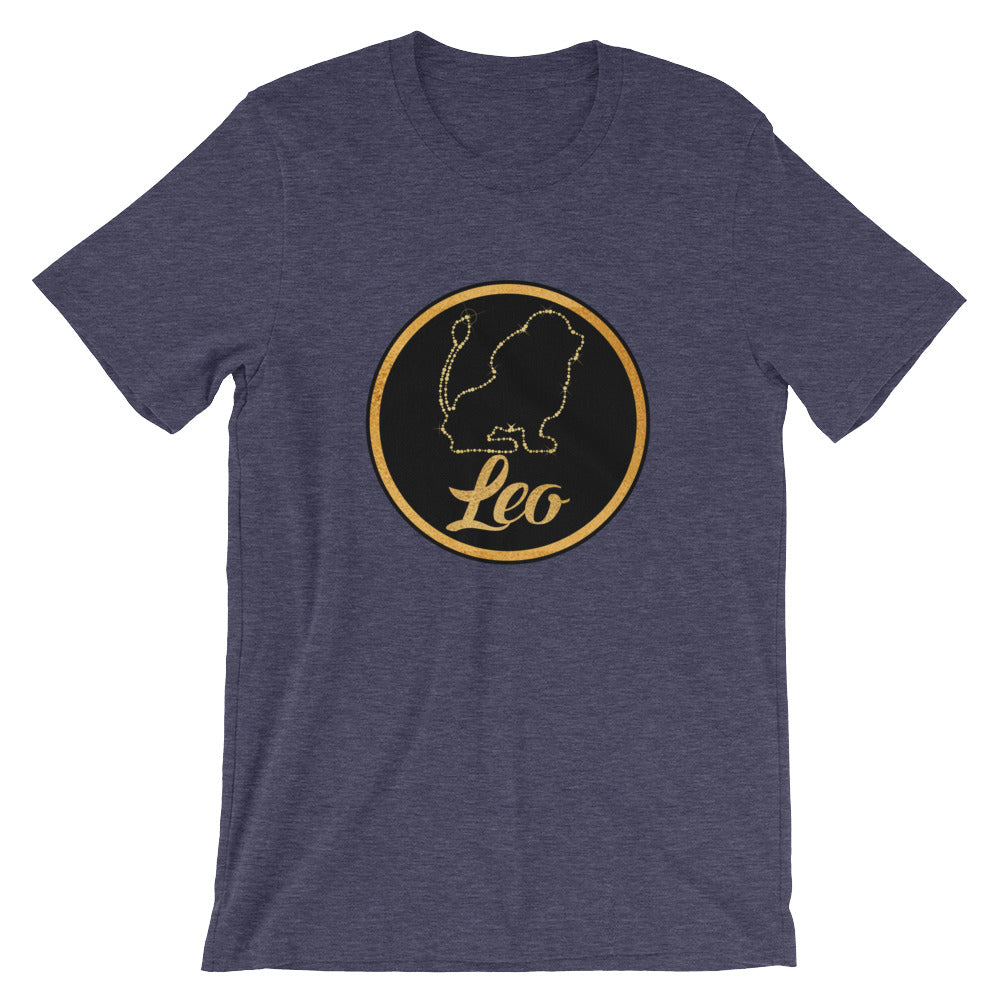 Cute Gold and Black Leo the Lion Zodiac Sign Astrology Horoscope Graphic Tee Tshirt
