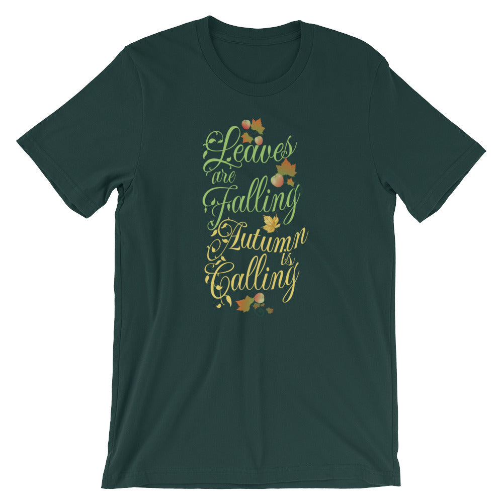 Leaves Are Falling Autumn Is Calling Cute Fall T-shirt Thanksgiving Day Apples Harvest Tees Shirts Gifts