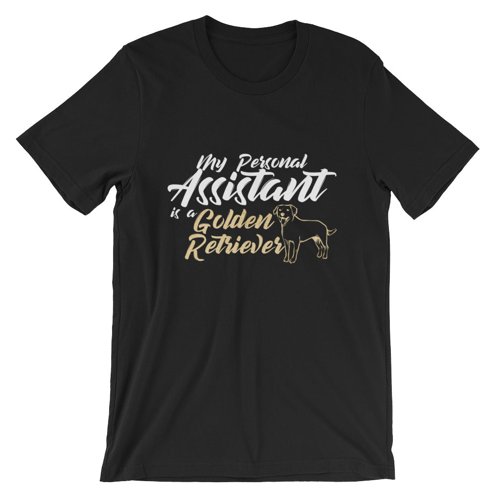 My Personal Assistant is a Golden Retriever for Dog Lovers Graphic Tee Graphic T shirts