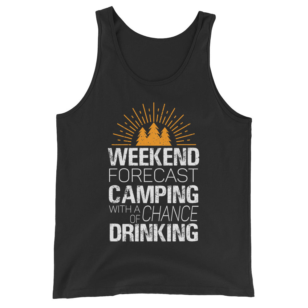 bc568f7f7 Weekend Forecast Camping with a Chance of Drinking Funny Camping Tank Top /  Drinking Shirt ...