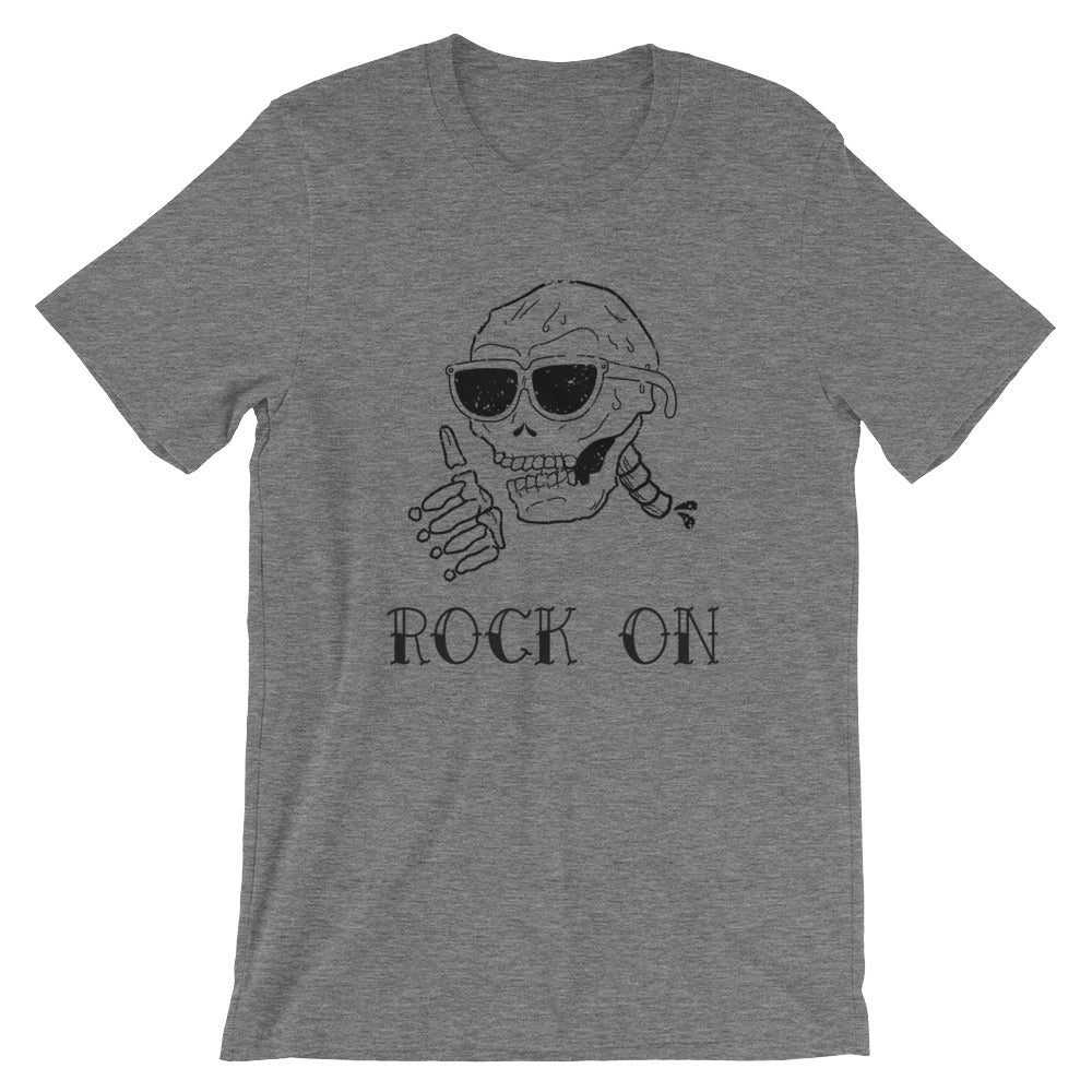 Rock On T Shirt Skull Shirt Skull Tshirt Great for Halloween Shirt