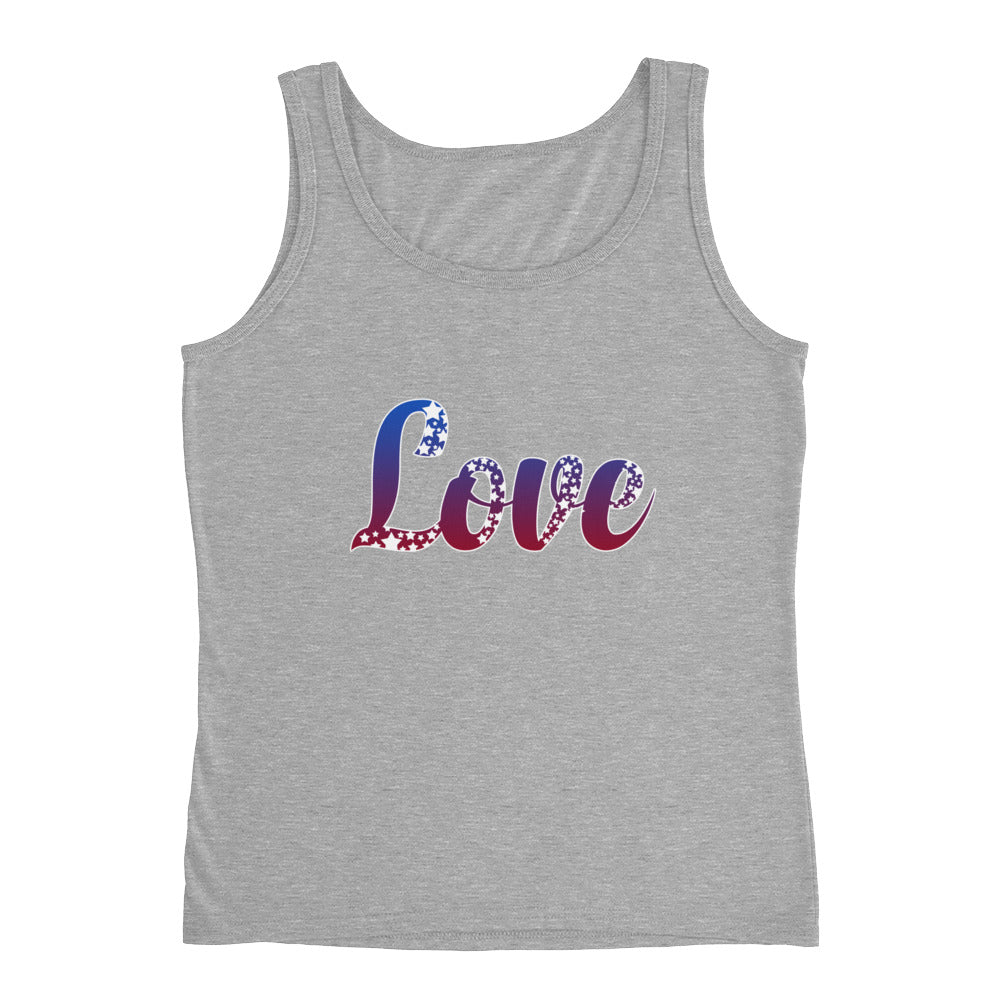 Love Red White Blue Patriotic Shirt USA America Tank Top - Great for 4th of July