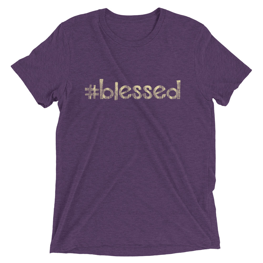 Hashtag # Blessed T-shirt - Great Christian Faith Inspirational Religious Gifts for Men and Women