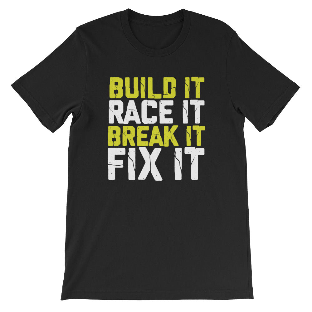 Build It Race It Tshirt for Drag Racing Motocross Stock Car Racing Dirt Track Racing Dirt Bike Racing