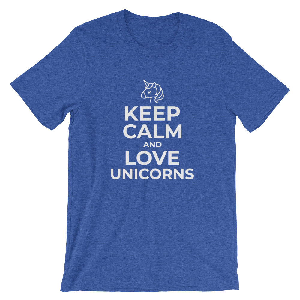 Keep Calm and Love Unicorns Tshirt for Unicorn Lovers Great for Unicorn Gifts