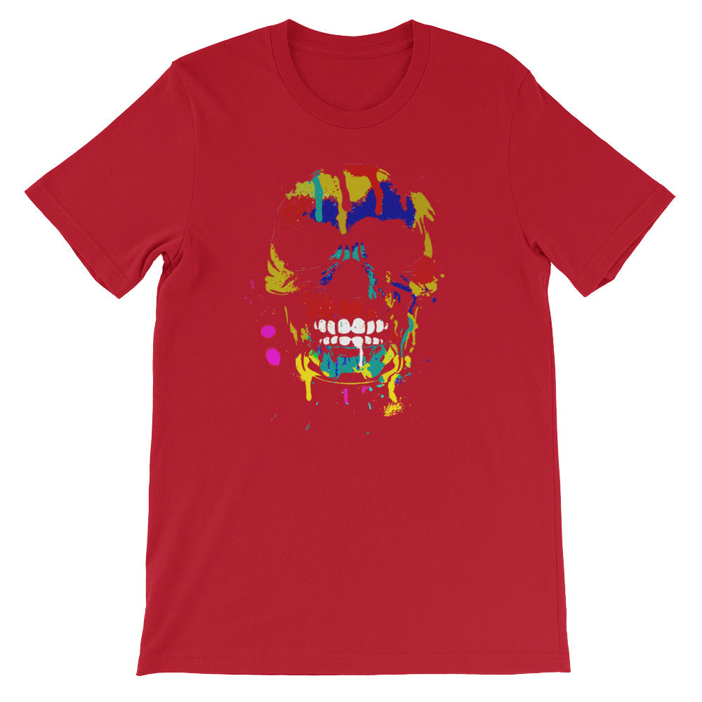 Colorful Dripping Skull - Great Skull Tshirt for Halloween