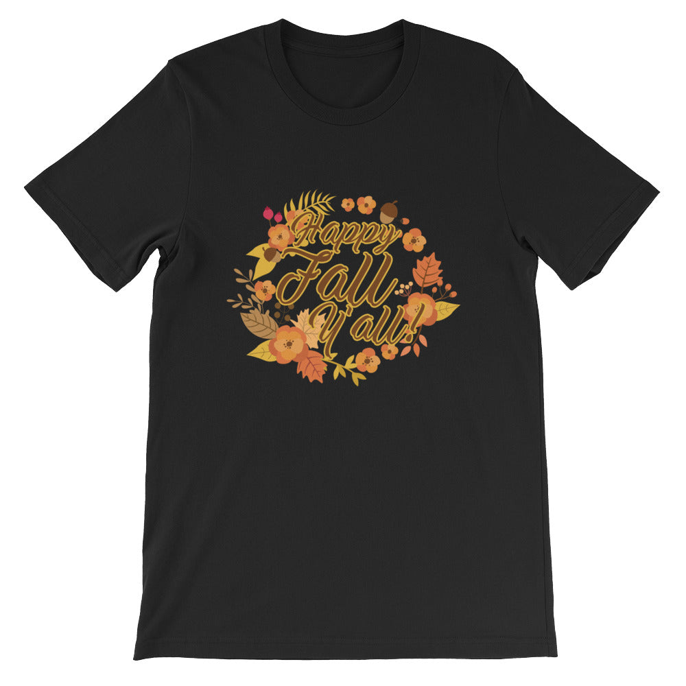 Happy Fall Y'all Tshirt - Great for Autumn and Fall