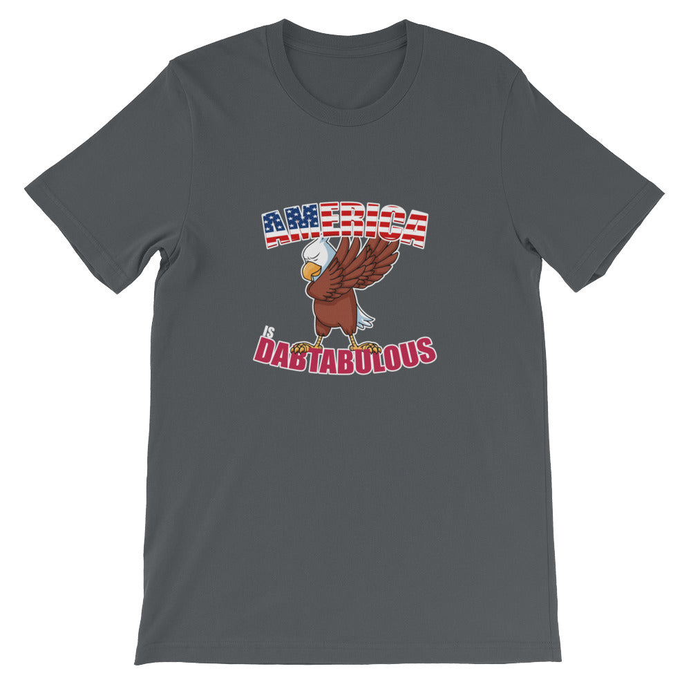 America is Dabtabulous Dabbing Eagle Patriotic T Shirt for Men & Women - Great for 4th of July