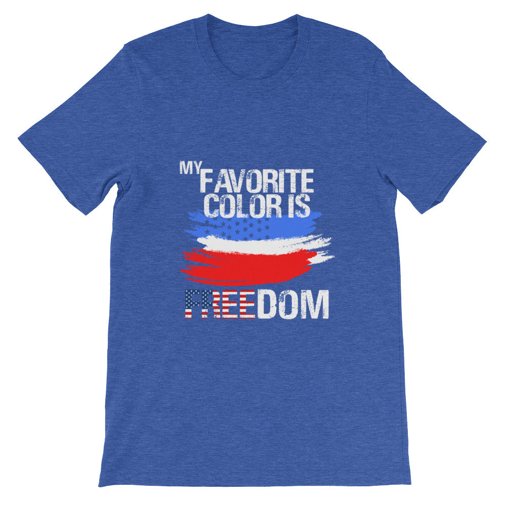 My Favorite Color is Freedom Patriotic Flag T Shirt for Men and Women - Great for 4th of July