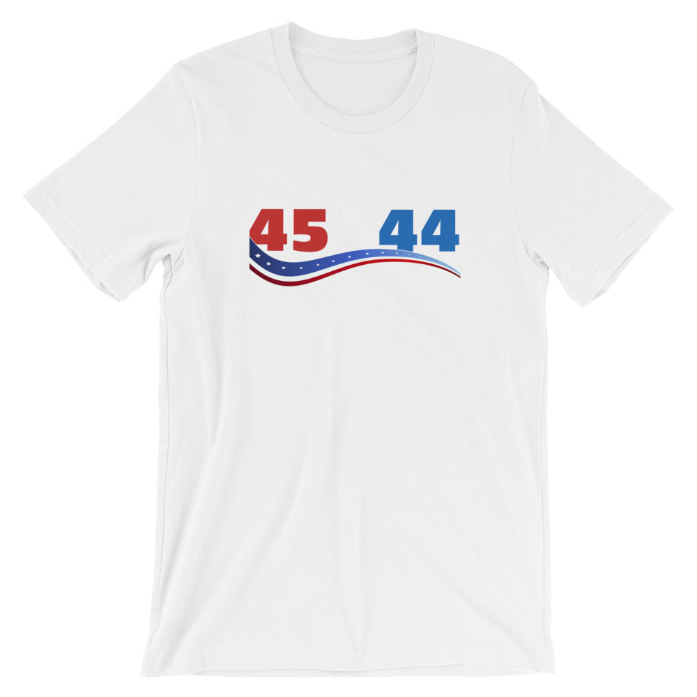 45 Is Greater Than 44 Trump T Shirt Funny Trump Shirt Vote Trump Pro Trump Great for Conservative Gifts