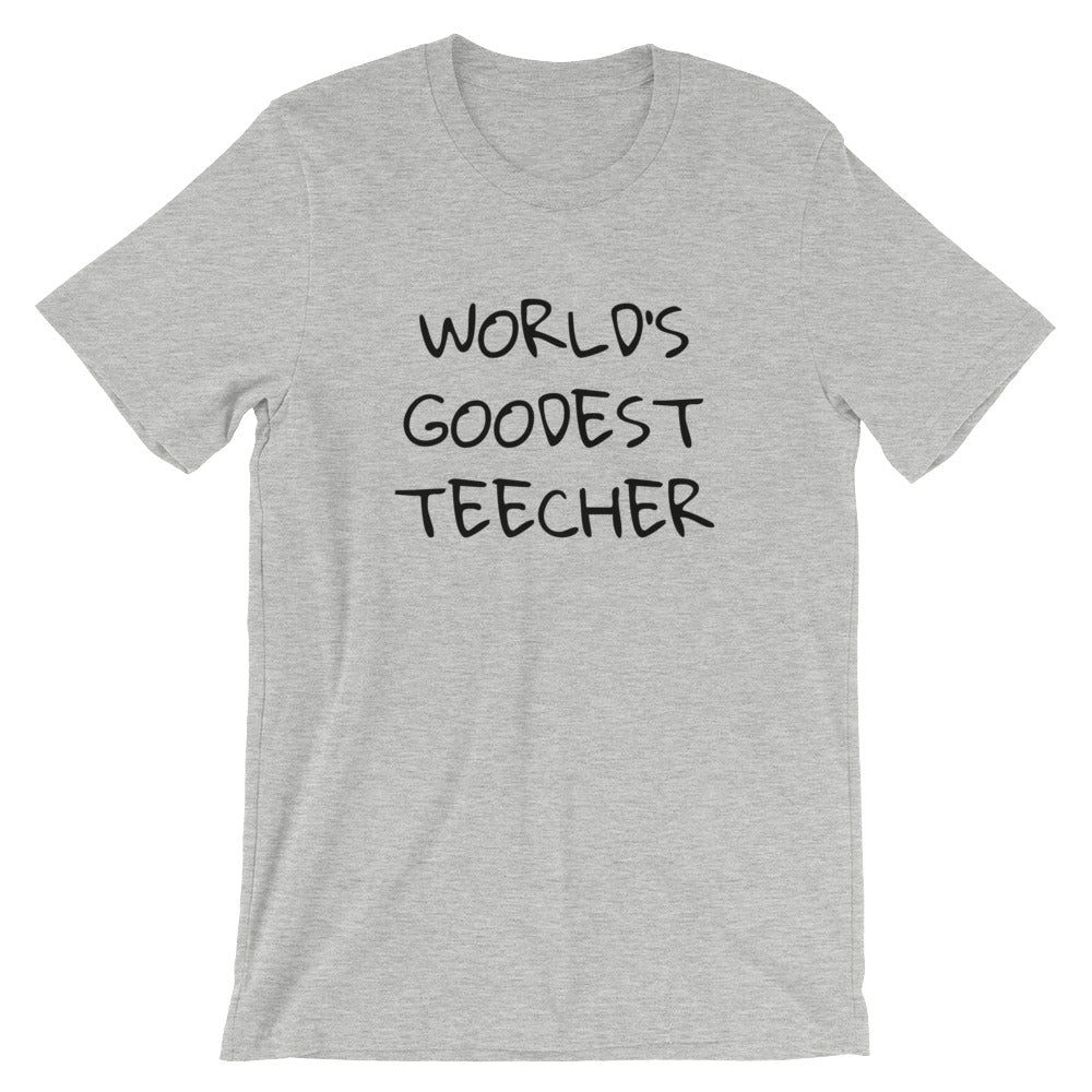 Worlds Goodest Teecher Funny Tshirt Cute Teacher Gift Ideas