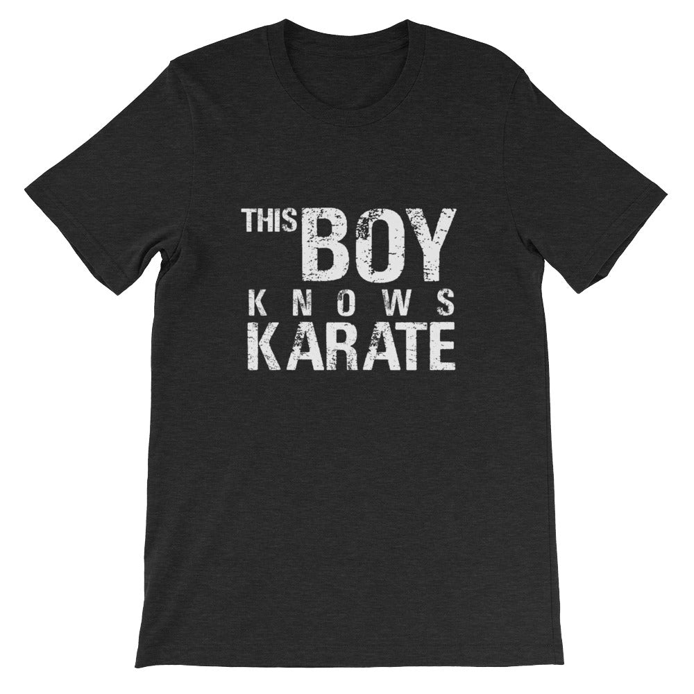 This Boy Knows Karate Funny Martial Arts Shirt for Boys and Men