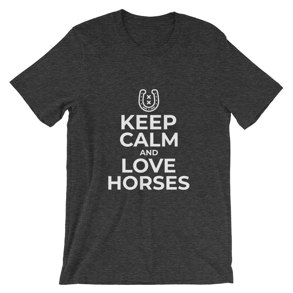 Keep Calm and Love Horses Tshirt for Horse Lovers Gifts Horse Rider Riding Equine Equestrian T Shirts