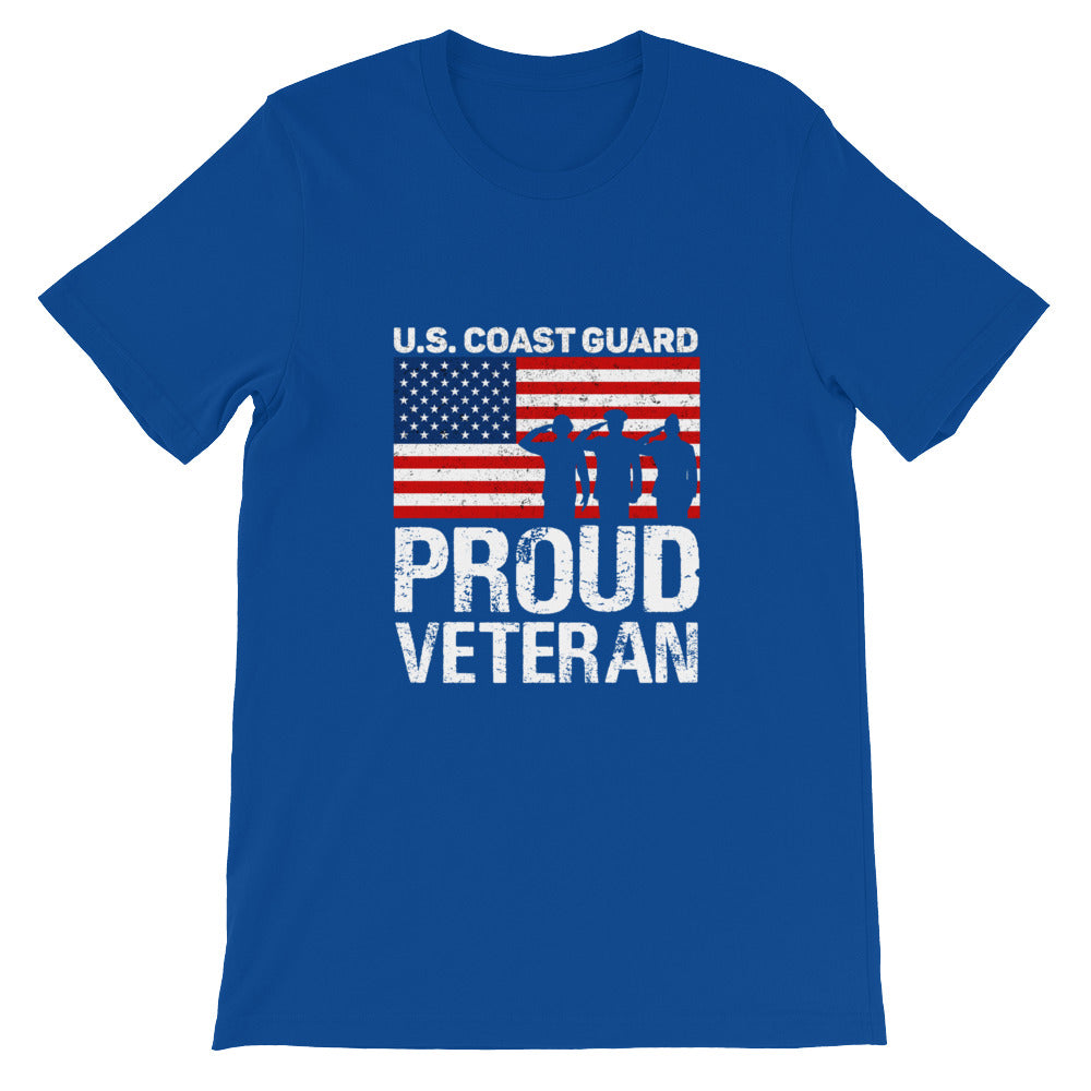 Proud Veteran US Coast Guard Patriotic Shirt - Great for 4th of July
