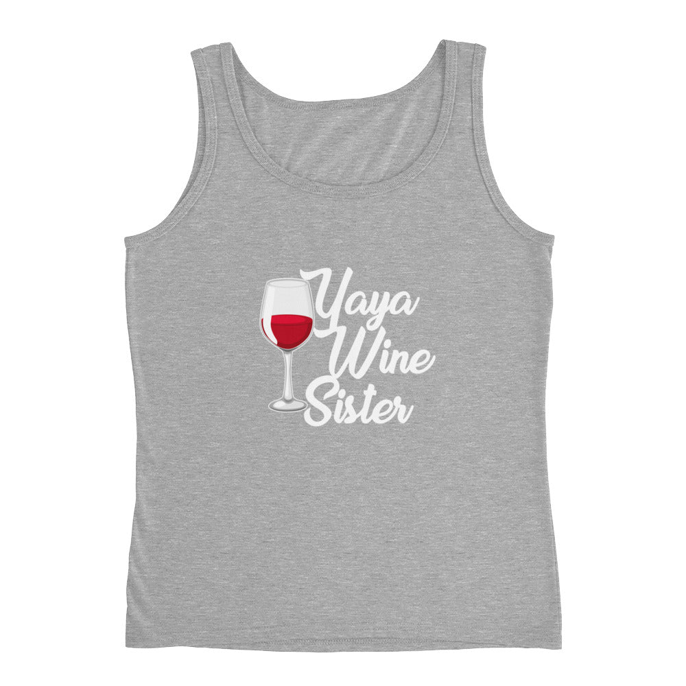 Yaya Wine Sister Funny Wine Drinking Tank Top for Women