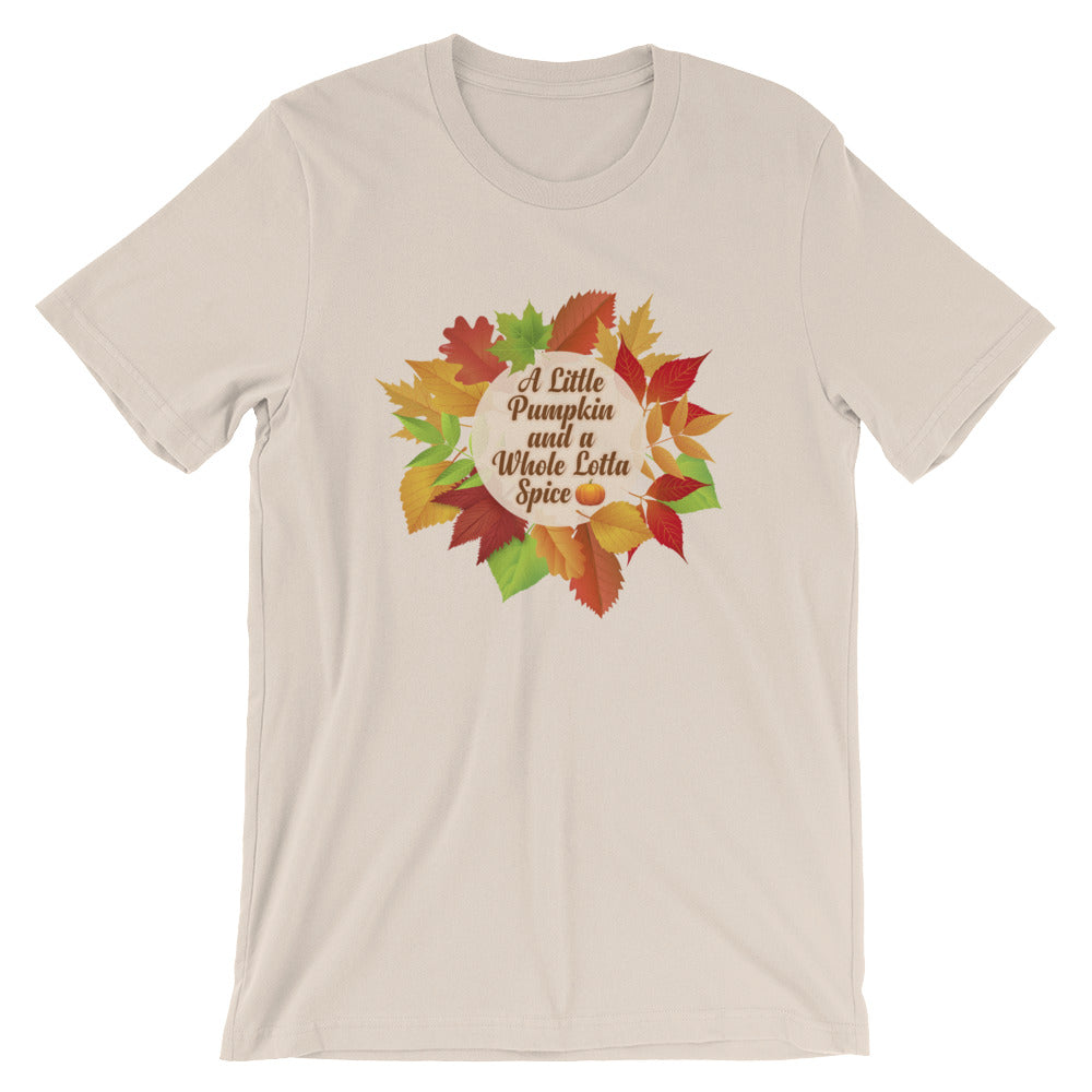 A Little Pumpkin Whole Lotta Spice Pumpkin Shirt for Thanksgiving Autumn or Fall Gifts  and Pumpkin Spice Lovers