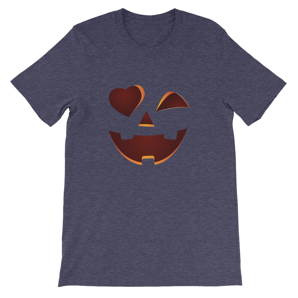 Smiley Face Pumpkin Shirt for Adults on Halloween