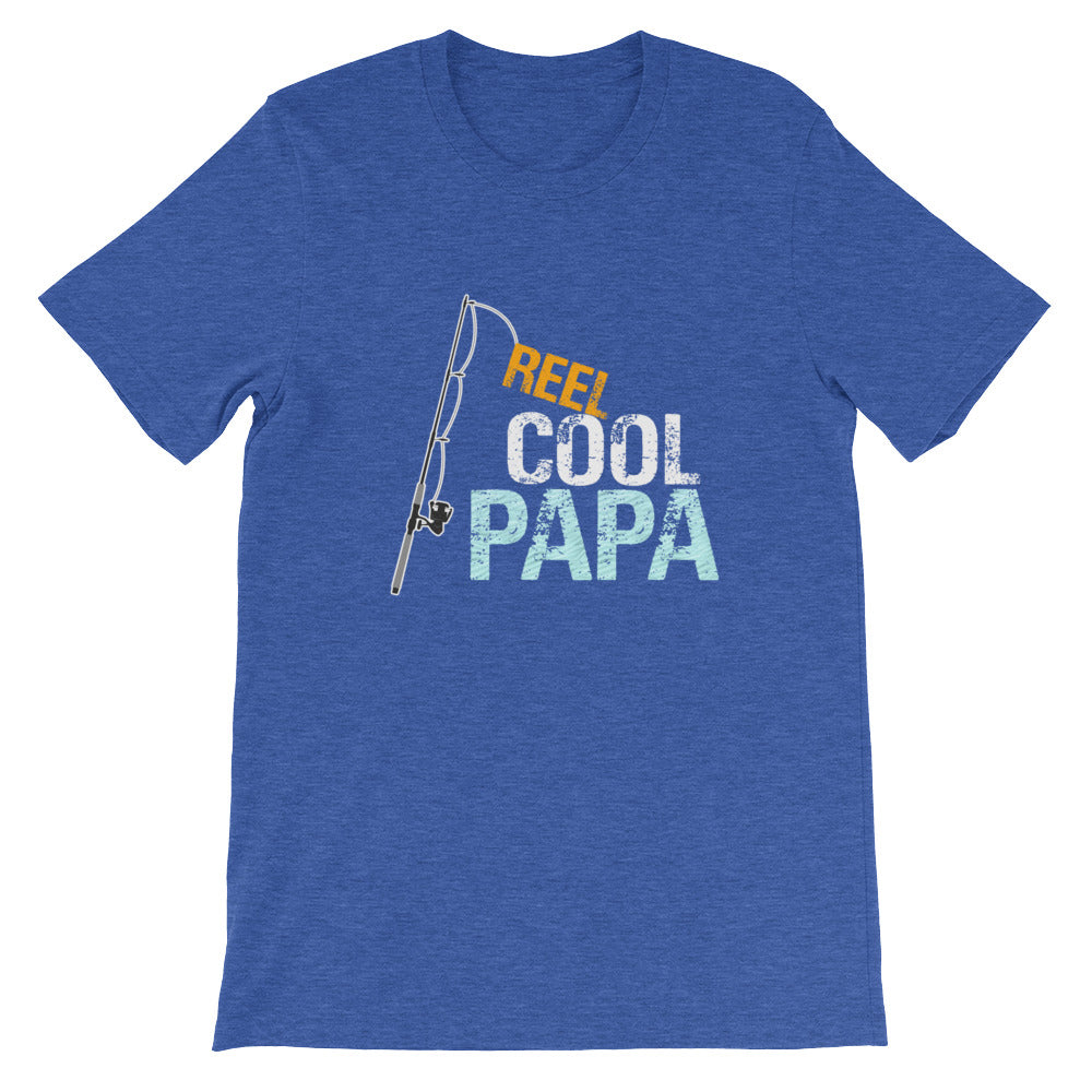 Reel Cool Papa Funny Fishing Shirt for Men - Great for Fishermen Gifts or Grandparents Gifts