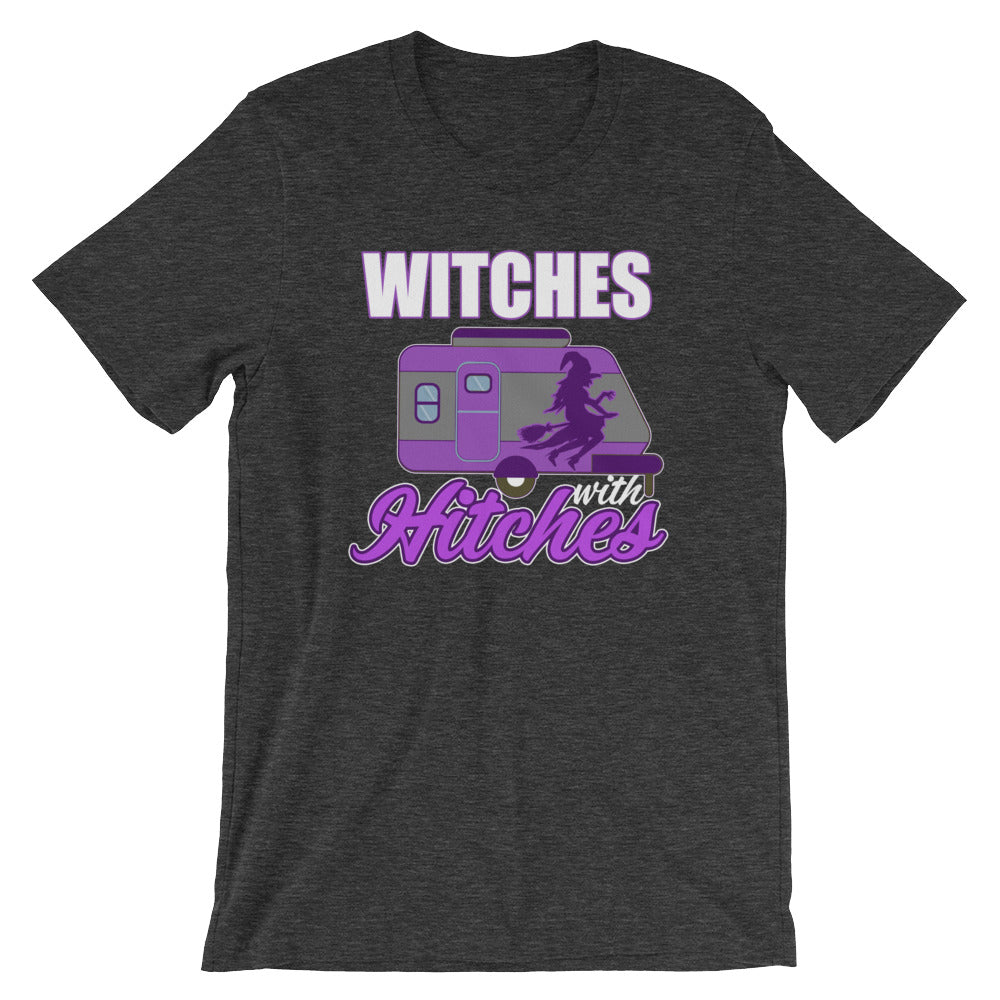 Witches With Hitches Funny Halloween or Camping T-Shirt Gift Ideas for Glampers Campers Wiccan Witch Lovers