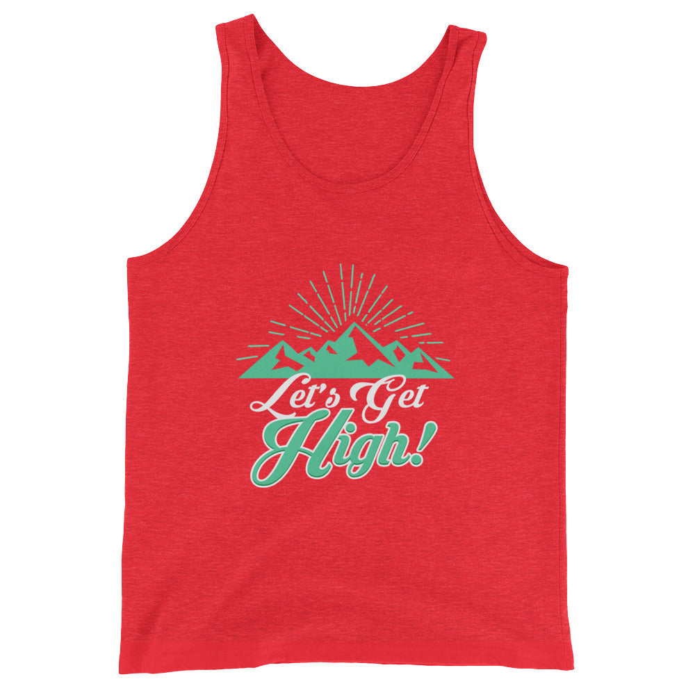 Let's Get High Funny Camping Tank Top / Hiking Shirt for Men & Women