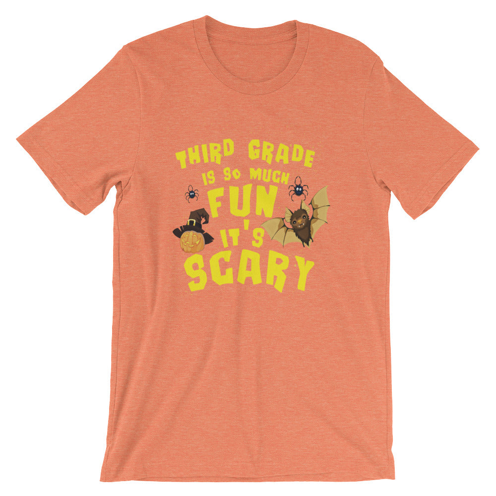 Third Grade Is So Much Fun Its Scary Third Grade Kids Third Grade Teachers Halloween Shirt Great for Back to School or Teacher Gifts