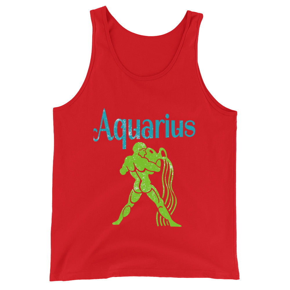 Zodiac Aquarius Astrology Sign Horoscope Tank Top Aquarius Zodiac Gifts for January or February Birthday