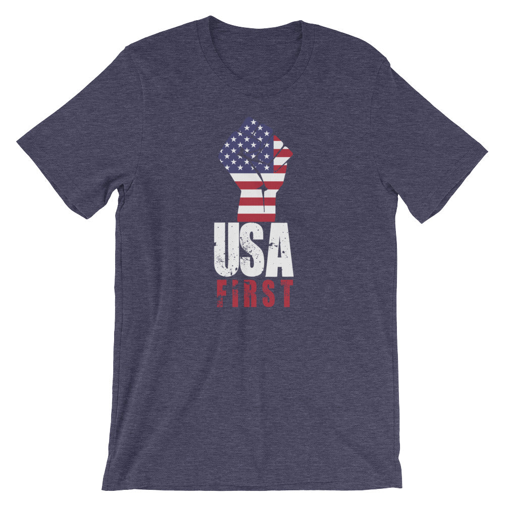 USA First Red White Blue Flag Patriotic Fist USA Shirt Great American Pride Unity Shirt