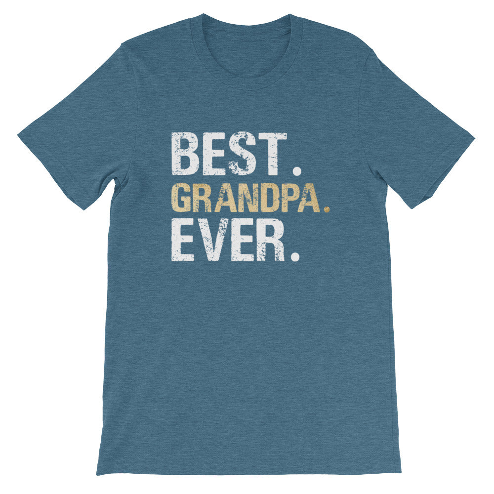 Best Grandpa Ever Tshirt for Men - Great Fathers Day or Grandparent Gifts
