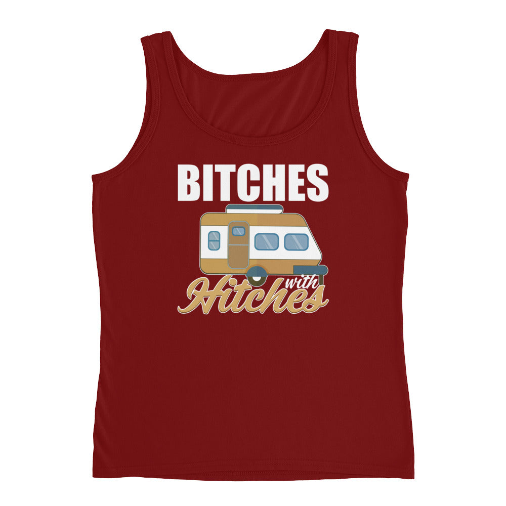 Bitches with Hitches Funny Camping Glamping Tank Top for Women - Great Gifts for Campers