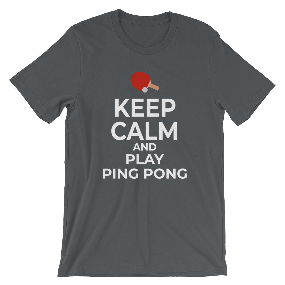 Keep Calm and Play Ping Pong T-Shirt Gift Funny Ping Pong Table Tennis Player Tee Shirts Gifts