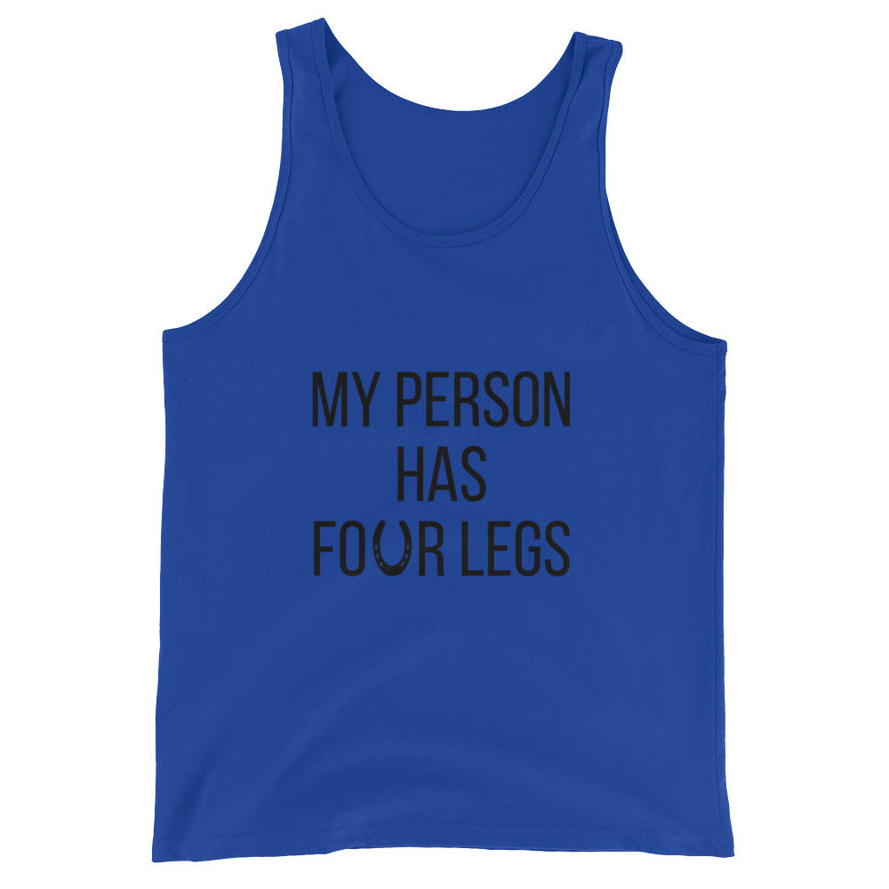 My Person Has Four Legs Horse Shirt Tank Top - Makes a great horse lover's gift