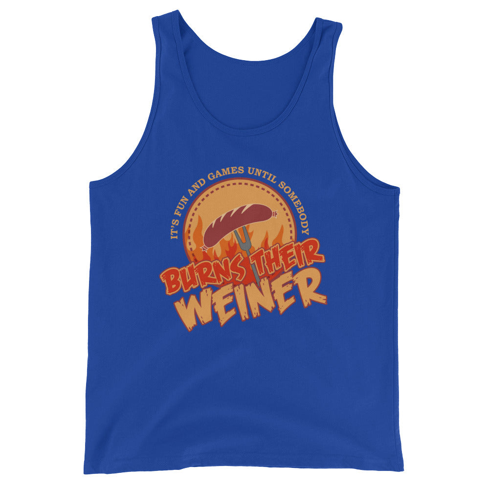 Burns Their Weiner Funny Camping Tank Top for Men Women - Good as Campers Gifts