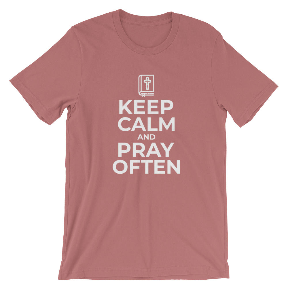 Keep Calm and Pray Often Religious Tshirt for Christian Gifts Praying Prayer Bible Jesus T Shirts Gifts