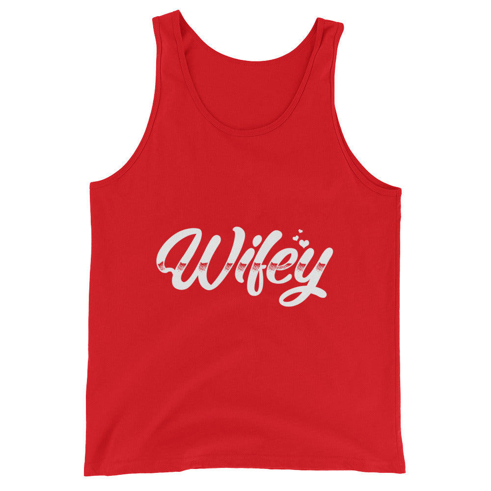 Wifey Couples Shirt Funny Hubby Wifey Matching Couples Tank Top