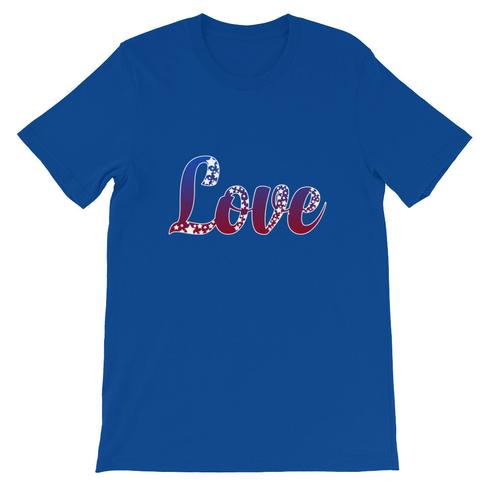 Love Red White Blue Patriotic Shirt USA America Tshirt - Great for 4th of July