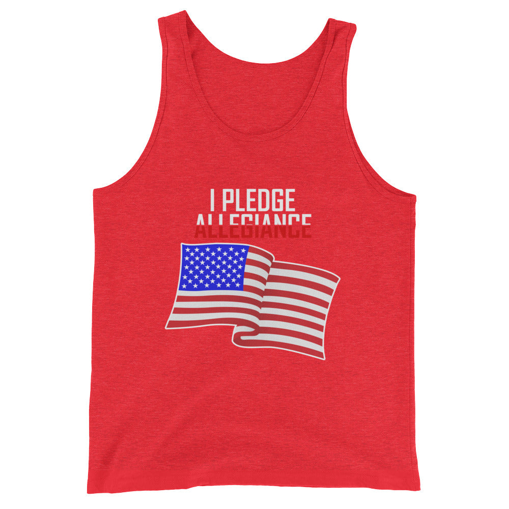 I Pledge Allegiance Flag Patriotic Tank Top for Men and Women - Great for 4th of July