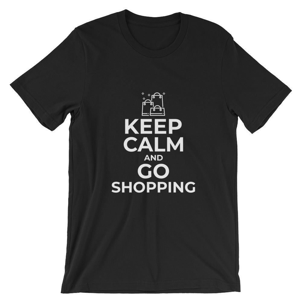 Keep Calm and Go Shopping Funny Shopaholics T-Shirt for Shopper Gifts Shopping Lovers Shoppers T Shirts Gifts
