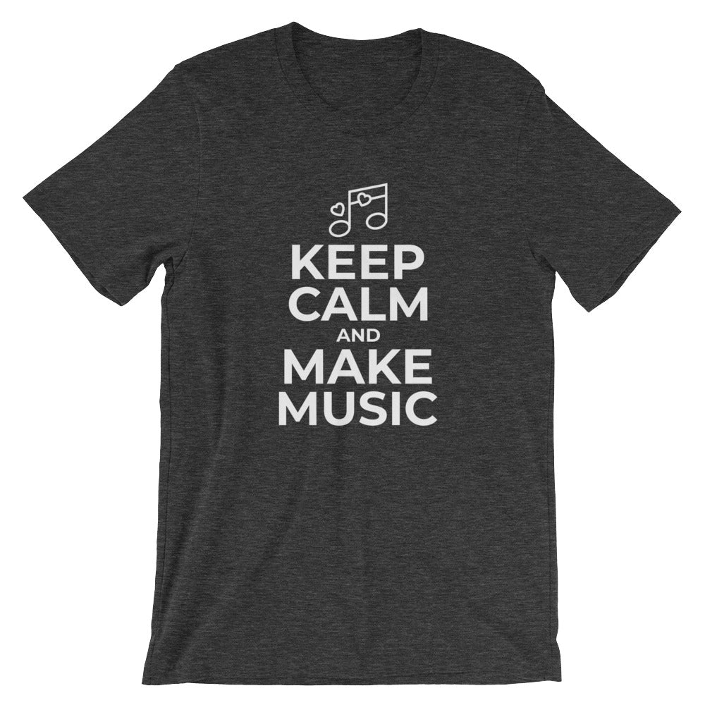 Keep Calm and Make Music Funny Music Lovers Tshirt Musician Gift Musician Music Maker Teacher T Shirts Gifts