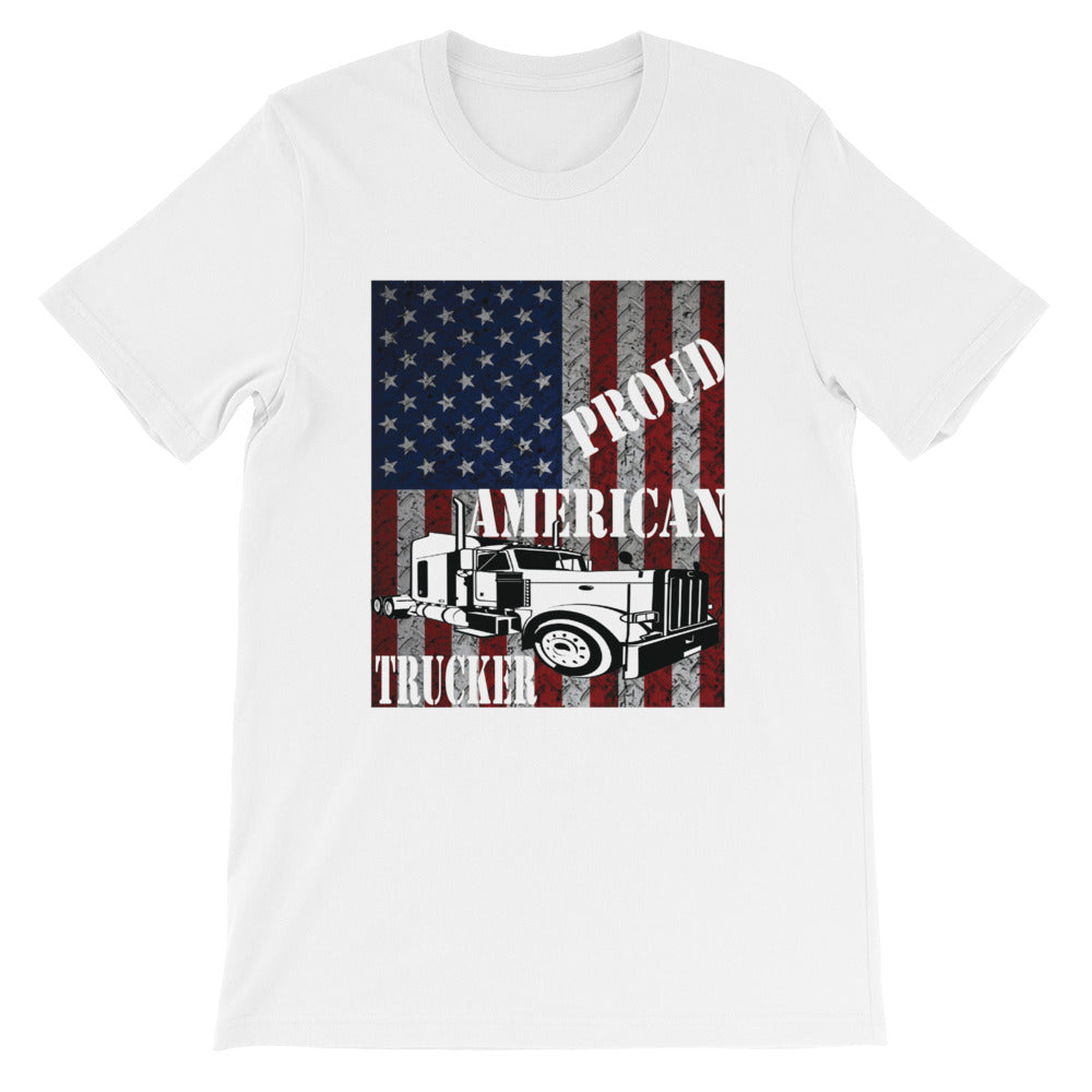 Proud American Trucker Shirt for Truck Driving Truck Drivers