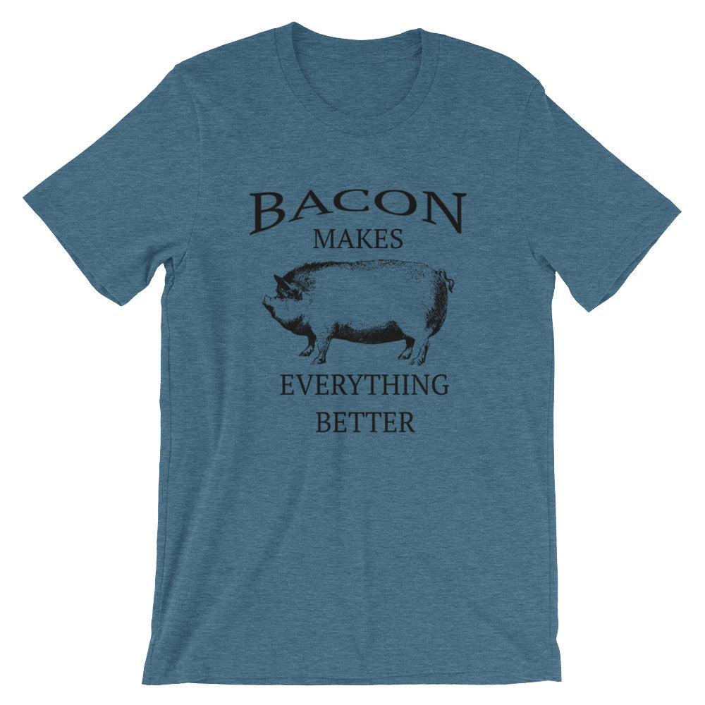 Bacon Makes Everything Better Funny T-Shirt for Pig Pork Lovers Farm Farmer Farming Gifts